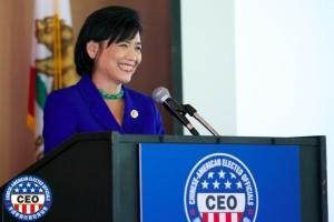 Rep Judy Chu at Podium